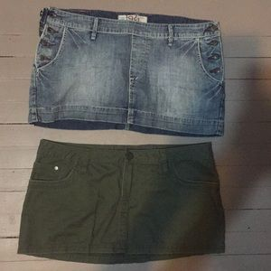 Mini skirt lot of 2, both skirts for one price!